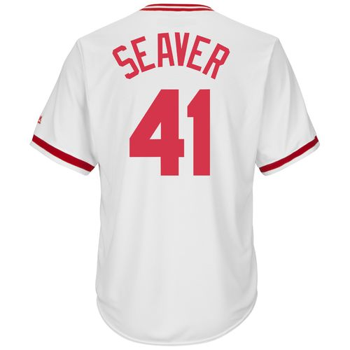 Majestic Men's Cincinnati Reds Tom Seaver #41 Cooperstown Cool Base 1978 Replica Jersey