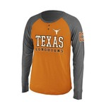 Colosseum Athletics Men's University of Texas Spotter Long Sleeve Henley Shirt
