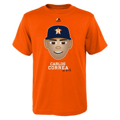 Majestic Boys' Houston Astros Carlos Correa Emoji T-shirt