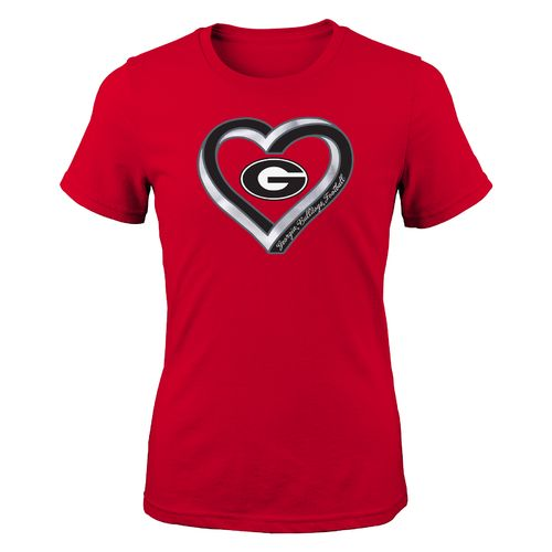 Gen2 Girls' University of Georgia Infinite Heart Fashion Fit T-shirt
