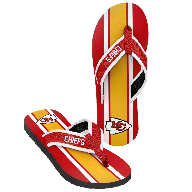 Forever Collectibles™ Men's Kansas City Chiefs 2016 Contour Stripe Flip-Flops