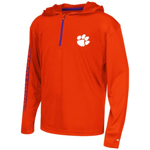 Colosseum Athletics™ Boys' Clemson University Sleet 1/4 Zip Hoodie Windshirt