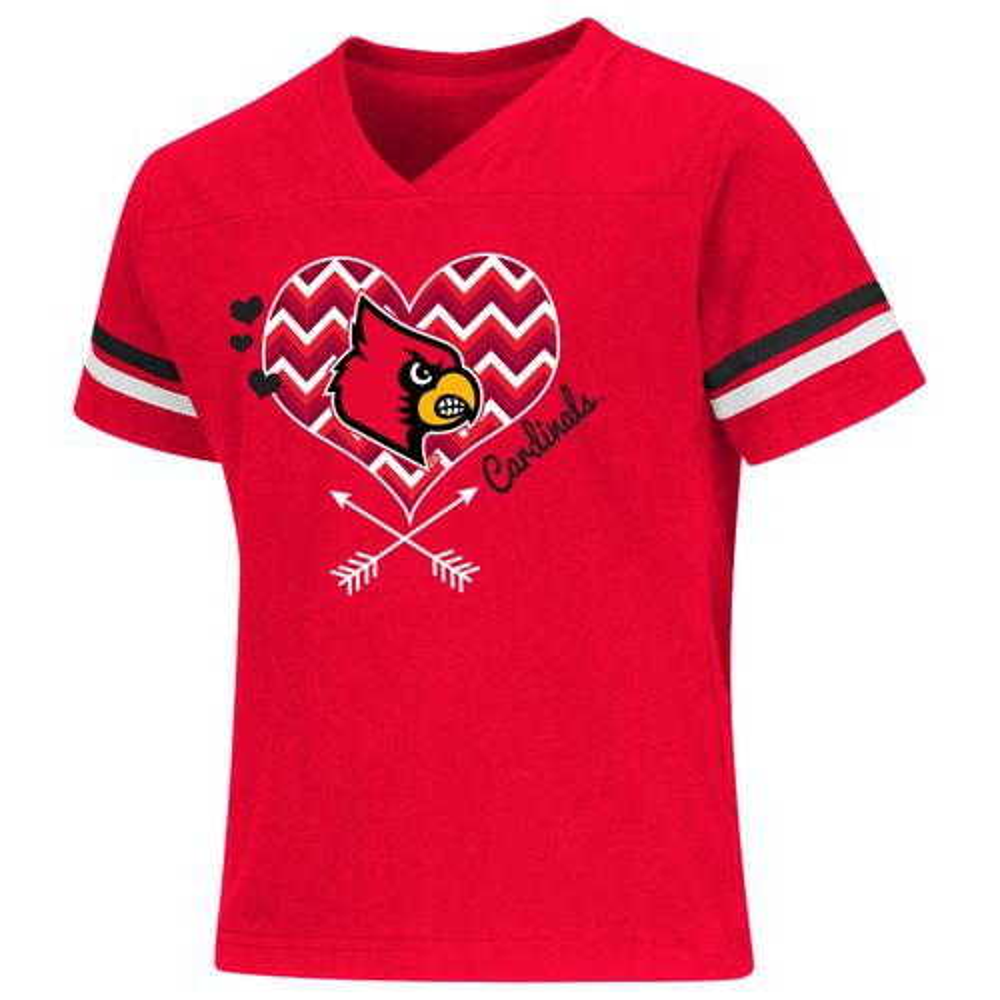 Colosseum Athletics Girls' University of Louisville Football Fan T-shirt