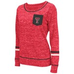 Colosseum Athletics™ Women's Texas Tech University Homies Long Sleeve Raw Edge Pocket T-shi