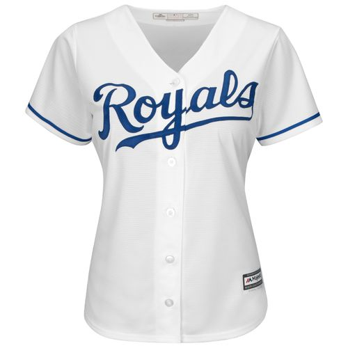 Majestic Women's Kansas City Royals Mike Moustakas #8 Cool Base® Replica Home Jersey - view number 3