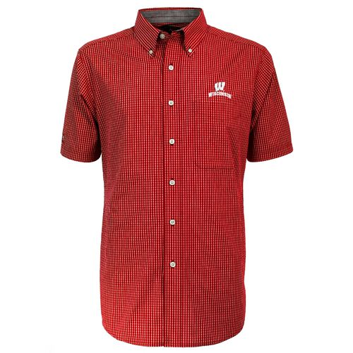 Antigua Men's University of Wisconsin League Short Sleeve Shirt