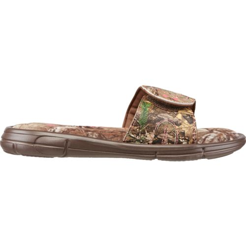 Under Armour Girls' Ignite Camo VII Sports Slides - view number 1