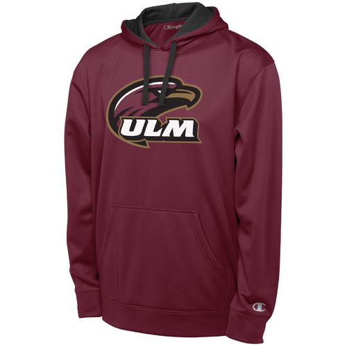 Champion™ Men's University of Louisiana at Monroe Long Sleeve Pullover Synthetic Hoodie