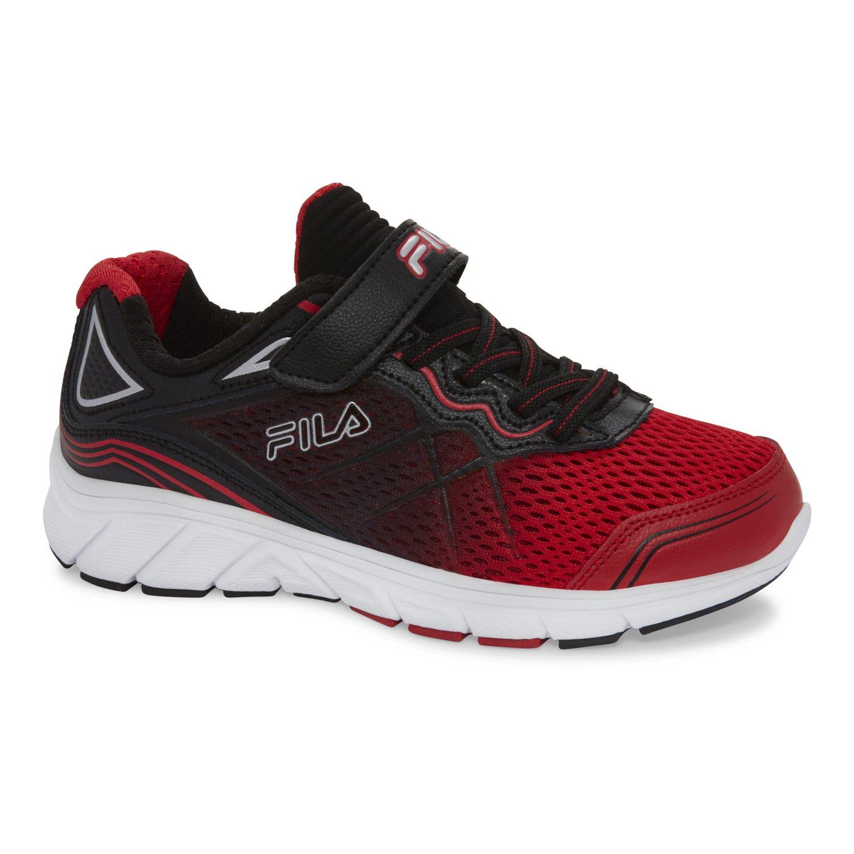 fila red shoes. color: black/fila red fila shoes e