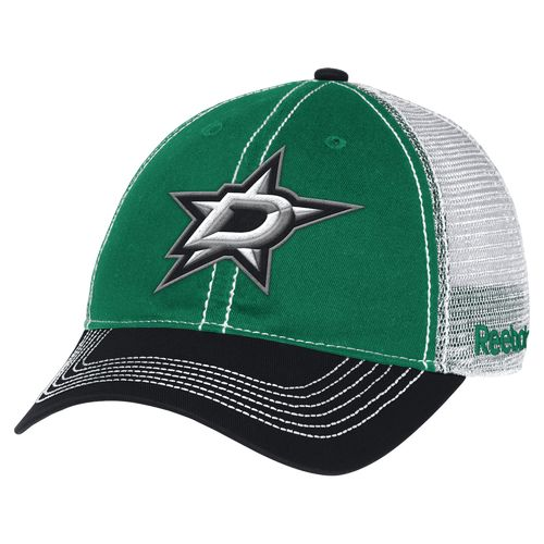 Reebok Men's Dallas Stars Face-Off Adjustable Mesh Back Slouch Cap