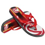 Forever Collectibles™ Adults' Atlanta Hawks Gradient Big Logo Flip-Flops