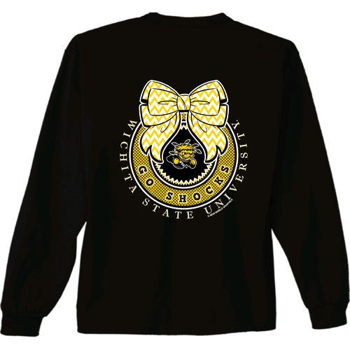 New World Graphics Women's Wichita State University Ribbon Bow Long Sleeve T-shirt