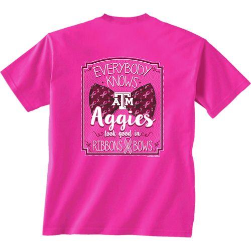 New World Graphics Women's Texas A&M University BCA Ribbon T-shirt