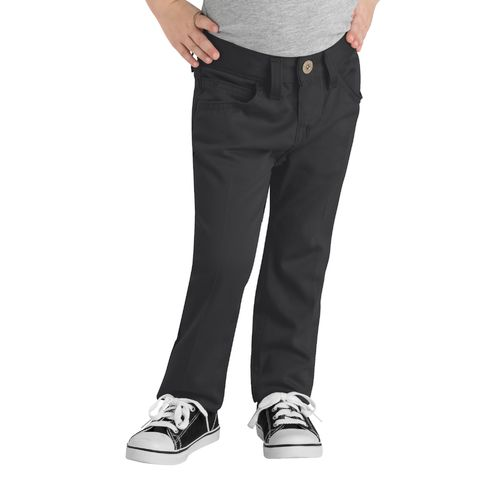 Dickies Girls' Skinny Fit Straight Leg 5-Pocket Stretch Twill Uniform Pant