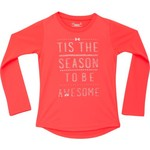 Under Armour™ Girls' 'Tis the Season to be Awesome Long Sleeve T-shirt