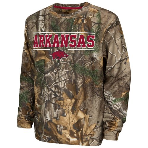 Colosseum Athletics™ Boys' University of Arkansas Pointer Long Sleeve Camo Shirt