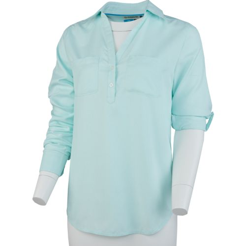 Magellan Outdoors Women's Aransas Pass Striped Fishing Henley