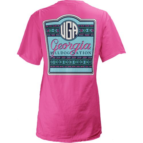 Three Squared Juniors' University of Georgia Baylee V-neck T-shirt