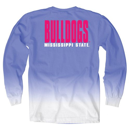 Blue 84 Women's Mississippi State University Ombré Long Sleeve Shirt