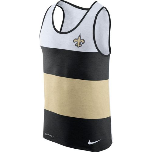 Nike™ Men's New Orleans Saints Dry Stripe Tank Top - view number 1