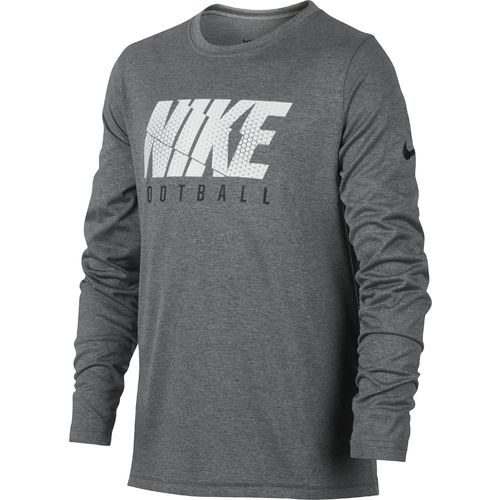 Nike Boys' Hexa Block Long Sleeve Football T-shirt