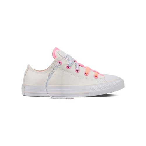 Converse Girls' Chuck Taylor All Star Loopholes Ox Sparkle Shine Shoes