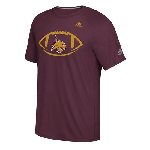 adidas Men's Texas State University Sideline Pigskin T-shirt