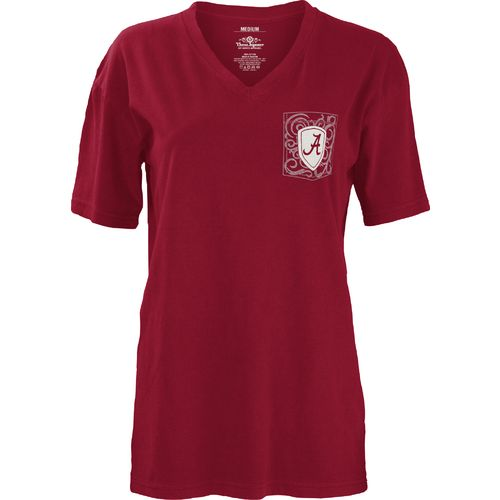 Three Squared Juniors' University of Alabama Anchor Flourish V-neck T-shirt - view number 2