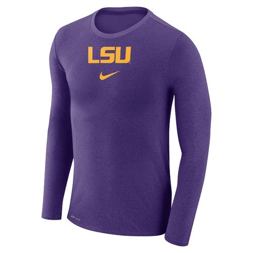 Nike™ Men's Louisiana State University Dry Marled Long Sleeve T-shirt