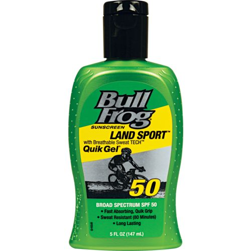 Bullfrog Land Sport with Breathable Sweat TECH Quik Gel SPF 50 Sunscreen