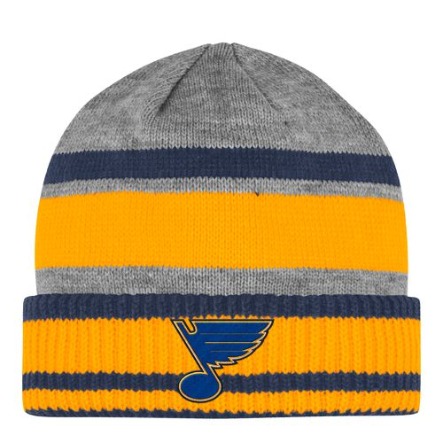 adidas Men's St. Louis Blues Heathered Gray Cuffed Beanie