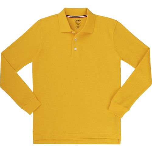 French Toast Toddler Boys' Long Sleeve Pique Polo Shirt