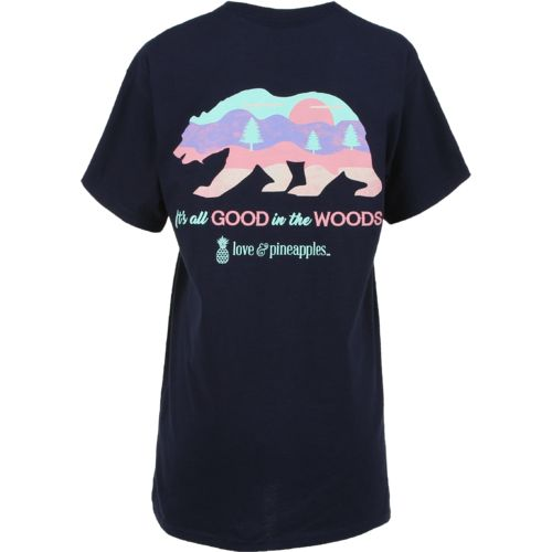 Love & Pineapples Women's Good In the Woods T-shirt - view number 1