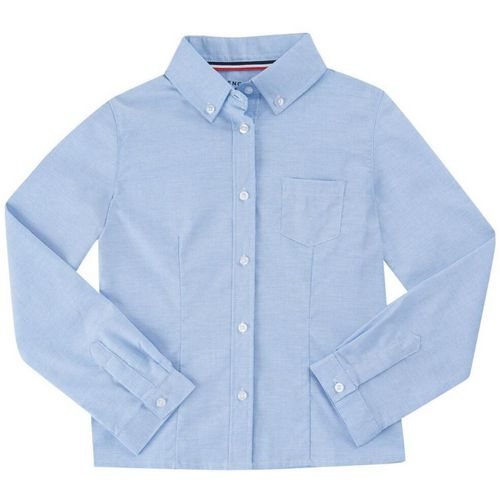French Toast Girls' Long Sleeve Oxford Uniform Blouse with Darts - view number 1