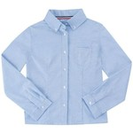 French Toast Girls' Long Sleeve Oxford Blouse with Darts - view number 1