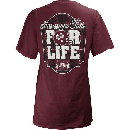 Three Squared Juniors' Mississippi State University Team For Life Short Sleeve V-neck T-shirt