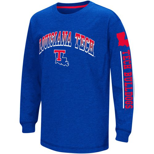 Colosseum Athletics Boys' Louisiana Tech University Grandstand Long Sleeve T-shirt