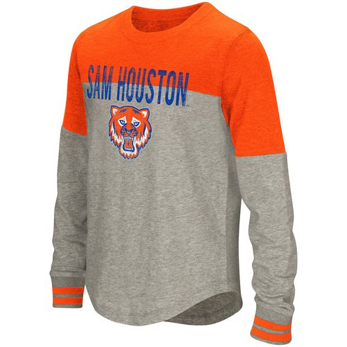 Colosseum Athletics Girls' Sam Houston State University Baton Long Sleeve T-shirt