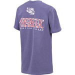 New World Graphics Women's Louisiana State University Comfort Color Initial Pattern T-shirt - view number 2