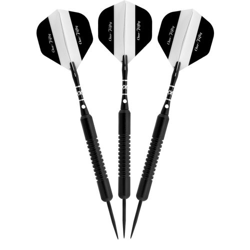 Elkadart Black 150 22 g Coated Brass Steel-Tip Darts