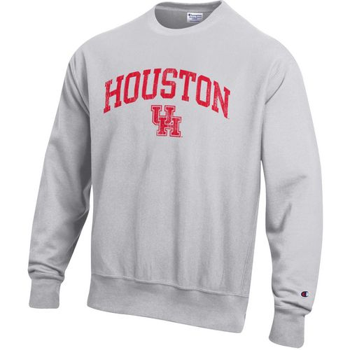 Champion Men's University of Houston Reverse Weave Crew Sweatshirt