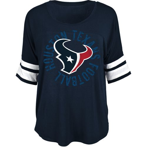 5th & Ocean Clothing Women's Houston Texans Relaxed Circle Fan Top