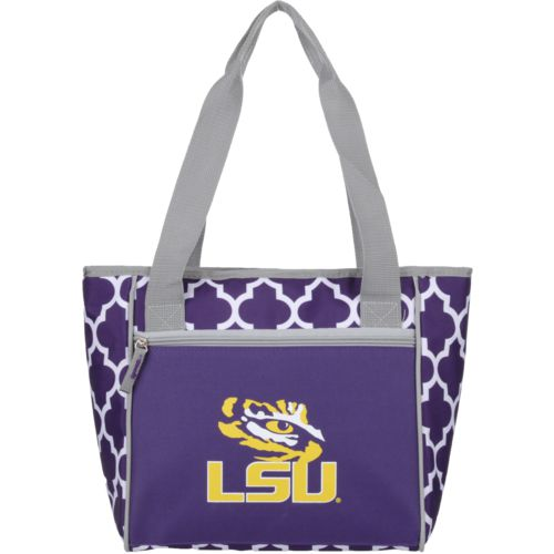 Logo Louisiana State University Quatrefoil 16-Can Cooler Tote - view number 1