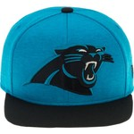 New Era Men's Carolina Panthers Heather Huge Snapback 9FIFTY Cap - view number 1