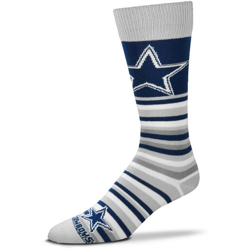 For Bare Feet Dallas Cowboys Lotta Stripe Thin Knee High Dress Socks