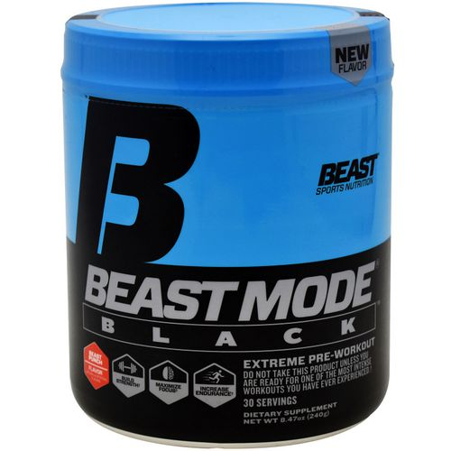 Beast Sports Nutrition Beast Mode Black Preworkout Supplement