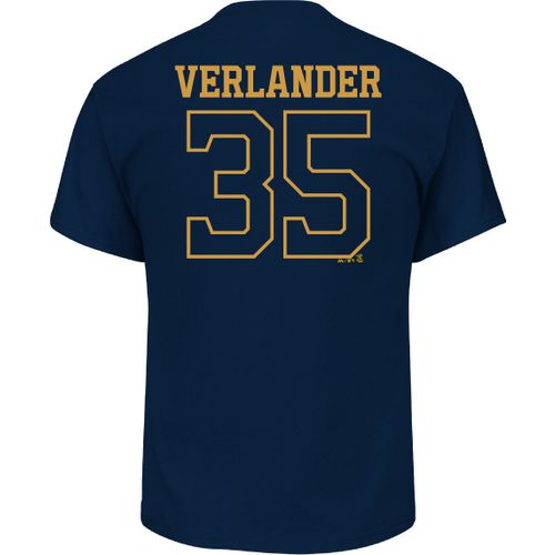Majestic Men's Houston Astros Justin Verlander 35 Gold Name and Number T-shirt
