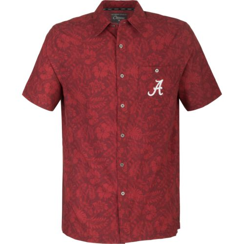 Colosseum Athletics Men's University of Alabama Ground Rules Camp Button Down Shirt