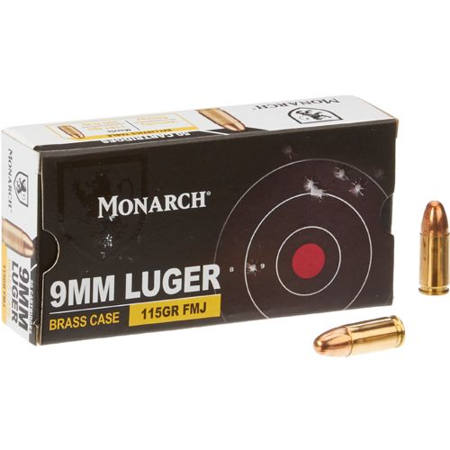 Monarch 174 Fmj 9 Mm Luger 115 Grain Pistol Ammunition Academy