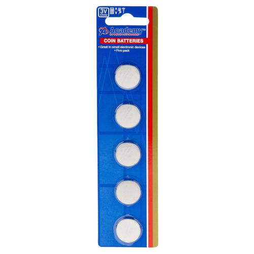 Academy 3V Coin Batteries 5-Pack